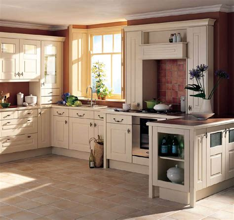 Fascinating Small Kitchen Cream Wood Cabinet Country