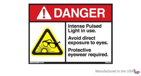 laser light warning label ipl danger warning label