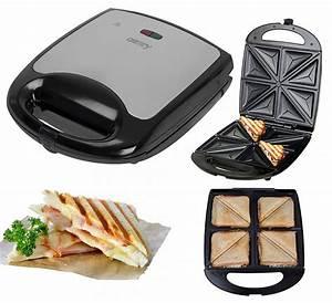 Waffeleisen Und Sandwichmaker : xxl 4er sandwichmaker edelstahl sandwichtoaster sandwich maker waffeleisen ebay ~ Eleganceandgraceweddings.com Haus und Dekorationen