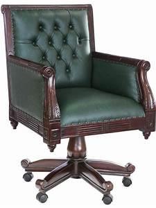 Fauteuil Style Anglais : fauteuil de bureau en acajou massif et capitonn ~ Teatrodelosmanantiales.com Idées de Décoration