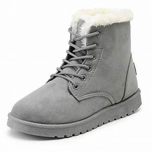 Women Winter Boots Suede Snow Ankle Boots Female Warm ...