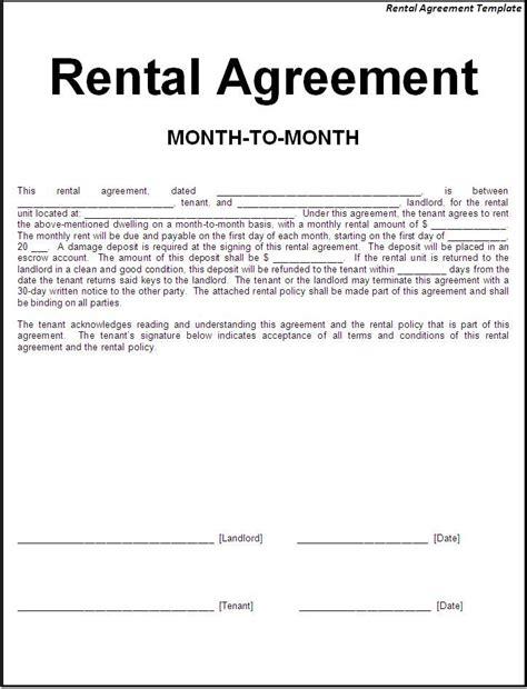 Printable Sample Simple Room Rental Agreement Form Real