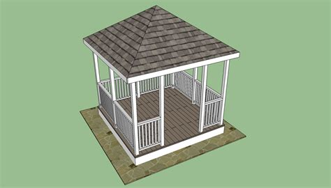 gazebo building plans square gazebo plans free diy free plans coop shed