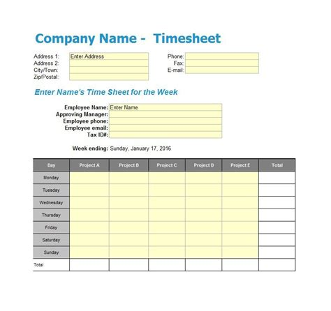 Time Card Excel Template 2 Week by 41 Free Timesheet Time Card Templates Free Template