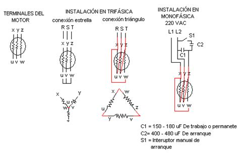 conectar motor trifasico a 220v monofasico putas cojer