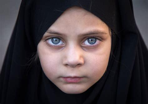Iranian Shia Girl With Blue Eyes During Ashura In