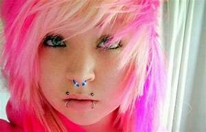 Sexy Girl With Nose Septum And Dragon Bites Piercing Picture
