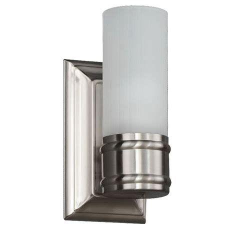 home depot wall sconces 1 light brushed nickel wall sconce v433nk01 the home depot