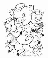 Pigs Coloring Three Pages Sheets Story Printable Activity Brick Popular Celebrate Library Coloringhome Short Insertion Codes sketch template