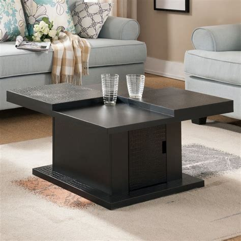 Are you looking for a coffee table for your living room or family room? Furniture of America Crag Modern Black Crocodile Textured ...