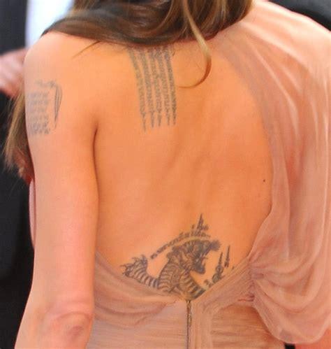 choosing tattoo angelina jolie tattoo