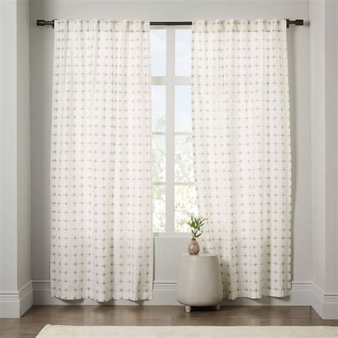 West Elm Drapery Hardware by Cotton Canvas Curtain West Elm