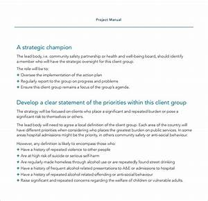 Free 7  Sample Project Manual Templates In Pdf