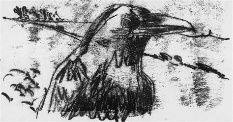 Peter Gander Fine Art Crow Ii Monoprint