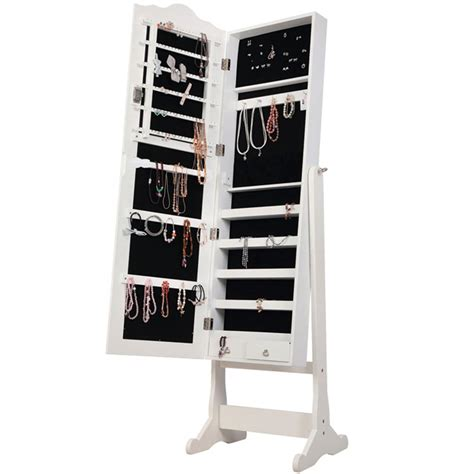 floor mirror storage nishano jewellery cabinet mirror floor free standing bedroom storage organiser ebay