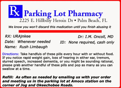 printable labels  send   pills  rush limbaugh