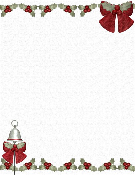 christmas menu borders templates festival collections