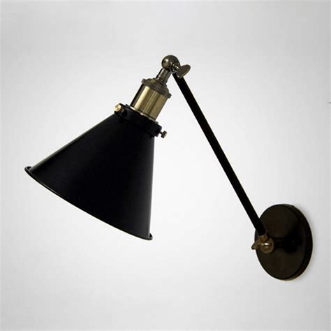 retro edison nordic industrial loft swing arm wall sconce