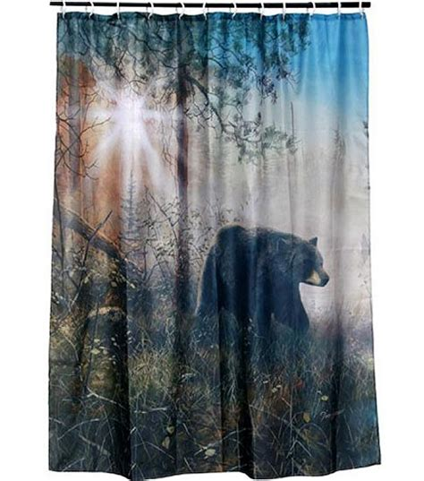 shadow in the mist shower curtain set cabin place