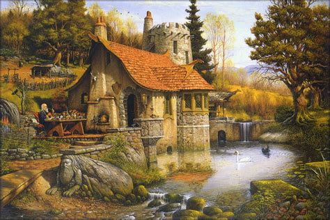 the cottage painting the pictorial arts merlin s cottage