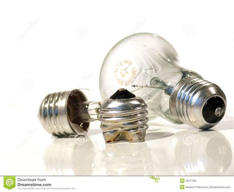 the burned out light bulb l stock photo image 4617796