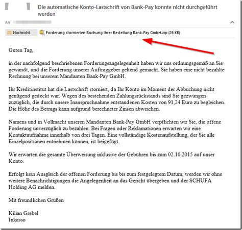 viruswarnung zu inkasso bank pay gmbh mimikama