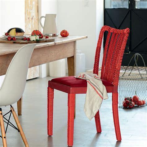 renover une chaise relooker une chaise avec de la corde