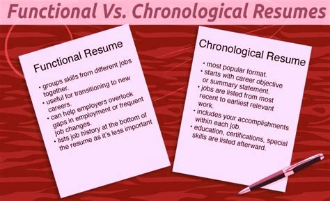 Is A Chronological Or Functional Resume Better by Chronological Resume Vs Functional Resume Free Resume Templates