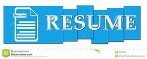 Resume Blue Stripes With Icon Stock Illustration Image
