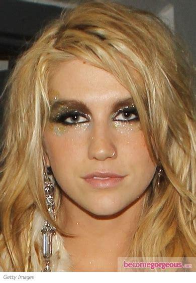 pictures kesha makeup kesha super glittery eye makeup