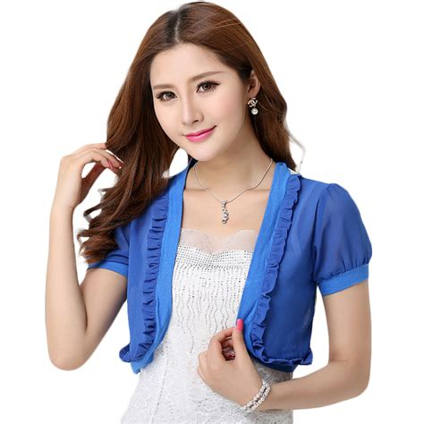 New 2015 Fashion Women Summer Jackets Casual Ladies Short Jackets Female Outerwear Coat Blue ...