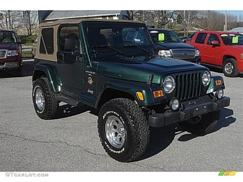 dark green jeep 2001 forest green jeep wrangler sahara 4x4 57788271