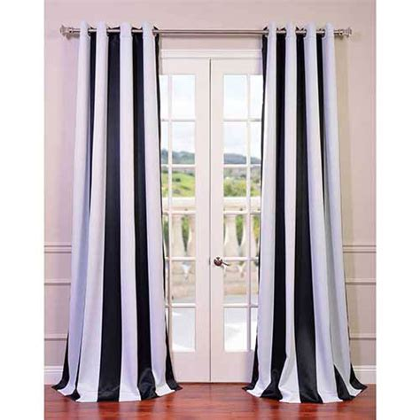black and white striped curtains 96 outdoor