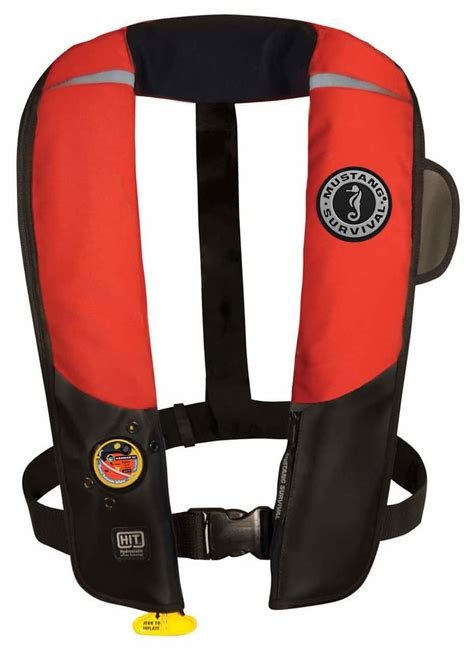 mustang md hit inflatable automatic pfd redblack
