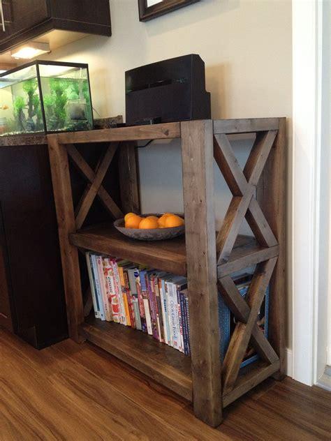 rustic  bookshelf short    home projects