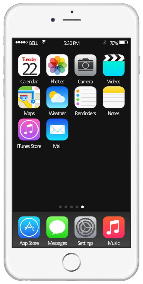 iphone home ios 8 iphone 6 home screen