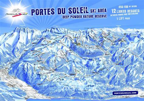 domaine les portes du soleil plans des pistes de ski portes du soleil morzine avoriaz plan du domaine skiable