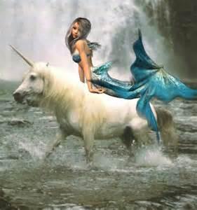 Beautiful Mermaid and Unicorn