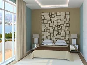 Welche Farbe Fürs Schlafzimmer : wandgestaltung mit farbe schlafzimmer ~ Michelbontemps.com Haus und Dekorationen
