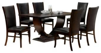Dining Table Set Under 50 by 7 Piece Isabella Collection Espresso Dining Table Set Contemporary Dining