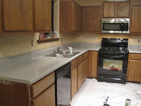 Paint Countertops Black by Rustoleum Painted Countertops And Floors Months Later