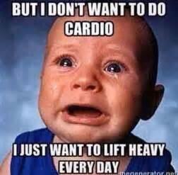 Cardio Meme - the dreaded c word crossfit peekskill