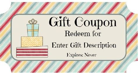 birthday coupon free birthday gift certificate template