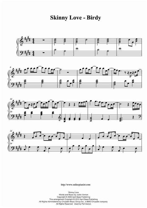 Birdy Skinny Love Chords Choice Image Chord Guitar Finger Position