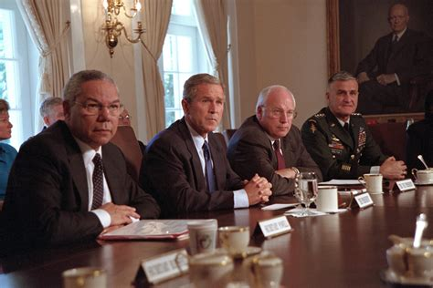 Bush Administration Cabinet by September 11 2001 The George W Bush Presidential