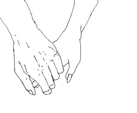 Holding Hands Aesthetic Drawing