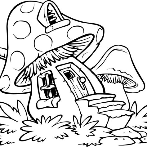 mushroom coloring page getcoloringpagescom