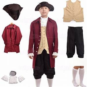 Vintage Men Rococo Cosplay Suits Colonial Revolution Costume Uniform Outfit | eBay