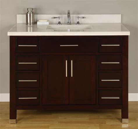 42 Inch Single Sink Modern Dark Cherry Bathroom Vanity