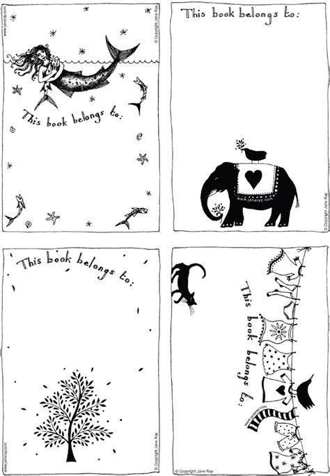 Free Printable Bookplates By Illustrator Jane Ray